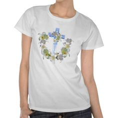 Easter Lilies and Cross Shirt