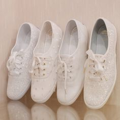 4 Reasons Why You Should Tie the Knot with Keds x kate spade new york Sneakers! - 4 Reasons Why You Should Tie the Knot with Keds x kate spade new york Sneakers! White Bridal Shoes, Silver Wedding Shoes, Wedding Boots, Wedding White, Boho Wedding, Dream Wedding, Kate Spade Wedding Shoes, Wedding Sneakers, Wedding Tennis Shoes