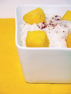 #Tajski pudding ryżowy z mango.