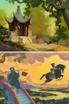17 Pieces of Stunning Mulan Concept Art Pixar Concept Art, Disney Concept Art, Disney Magic, Disney Art, Disney Stuff, Disney And Dreamworks, Disney Pixar, Disney Princesses And Princes, Disney Animation