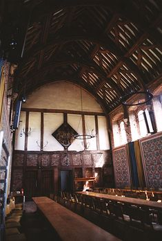 The great hall at Hatfield House, childhood home of Elizabeth Tudor.