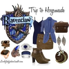 """""""Ravenclaw's Trip to Hogsmeade"""" by nearlysamantha on Polyvore"""