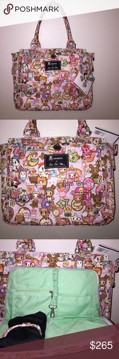 NWT TOKIDOKI JUJUBE Donutella dss be classy This is a super cool diaper bag or can be used as a regular purse.  This but much bigger than what i wanted it to be. tokidoki Bags Baby Bags