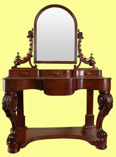 SUPERB QUALITY VICTORIAN MAHOGANY ANTIQUE DUCHESSE DRESSING TABLE