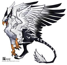 White griffin by Azany on DeviantArt