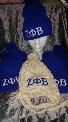 Winter hats for ladies of Zeta Phi Beta
