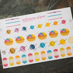 Crochet Collection 42 ct for Erin Condren Life Planner, Plum Paper Planner, Filofax, Kikki K, Calendar or Scrapbook - pinned by pin4etsy.com
