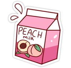A cute pretty pink carton of peach milk. • Also buy this artwork on stickers, apparel, phone cases, and more.