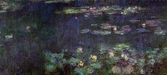 """""""Reflets verts"""" (panneau de droite)  Claude MONET 1920-26  Musée de l'Orangerie, Paris"""