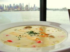 Dungeness Crab adds a special Northwest touch to this classic chowder. Yukon gold potatoes, sweet onion, fennel, red pepper and fresh basil round out. (Recipe courtesy of Salty's Waterfront Seafood Grill, Alki Beach, Seattle, WA )