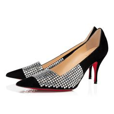 Christian Louboutin United States Official Online Boutique - CHAMPIONNE STRASS 80 Black/Crystal Suede available online. Discover more Women Shoes by Christian Louboutin Flat Shoes, Pump Shoes, Flats, Shoes Heels, Louboutin Online, Rhinestone Heels, Christian Louboutin Shoes, Suede Pumps, Black Crystals