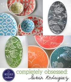 Gorgeous pottery from Susan Rodriguez featured today on Completely Obsessed via Inspired by Charm. Visit the blog for a special coupon code: http://www.inspiredbycharm.com/2013/02/completely-obsessed-susan-rodriguez.html#