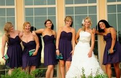 The bridal party hanging out on the terrace before the reception at Todd Creek Golf Club in Thornton, Colorado.