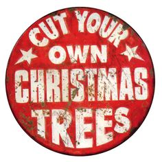 Christmas Trees Advertisement Tin Signs
