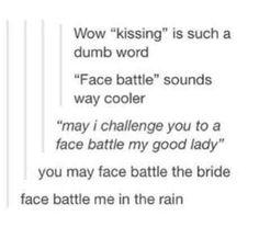 Face battle me in the rain