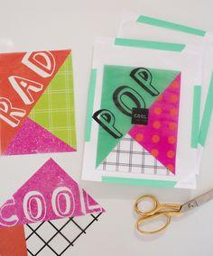 FREE printable templates for glassine (transparent) paper  | Oh Joy