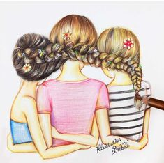 Pin by busy izzy on kawaii anime drawings of friends, bff dr Best Friend Drawings, Bff Drawings, Cool Drawings, Drawing Sketches, Drawing Of Best Friends, Drawing Art, Pencil Drawings, Drawing Ideas, Bff Pics