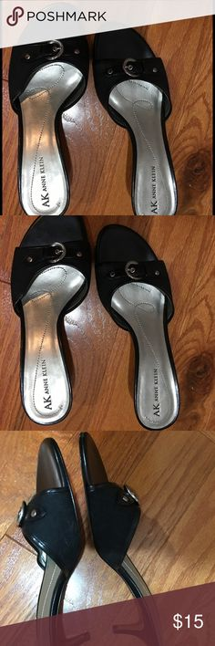 "AK Anne Klein Shoes AK Anne Klein open toe sling back, size 7.5 with a 2"" heel. Good condition. Smoke Free Owner/Home. AK Anne Klein Shoes Heels"