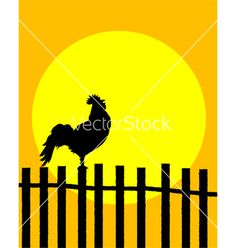 Rooster silhouette vector 638031 - by Lirch on VectorStock®
