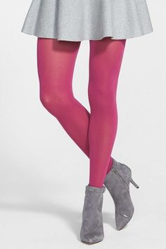 dc64f54ab83 DKNY Opaque Control Top Tights Pink Tights