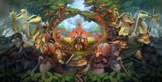 A tapestry of the lead characters from most of the Redwall books. Fantastic!