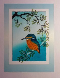 Color inspiration for the SAB 2015 A Happy Thing kingfisher bird stamp.  Barbara Gray's Blog. One Day at a Time.: Kingfisher Blue...