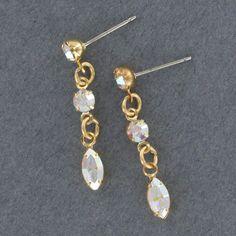 Sadie Green's Classic Crystal Aurore Boreale Rhinestone Earring