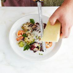 """UNIQLO Recipe: JOSEF CENTENO Romanesco """"Risotto"""" with Sautèed Shrimp"""