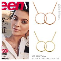 Steal Kylie Jenner's style with our Double Kismet Necklace £29   Email anna@dollymamaboutique.co.uk to order. PayPal accepted xx