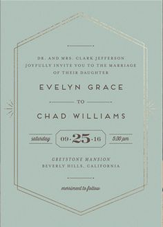 art deco wedding invitations Golden Glamour Wedding Invitation Sweet from Minted - Love this simple yet rich art deco inspired stationery. Gala Invitation, Art Deco Wedding Invitations, Vintage Wedding Invitations, Invitations Online, Vintage Weddings, Wedding Vintage, Lace Weddings, Invites, Wedding Dresses