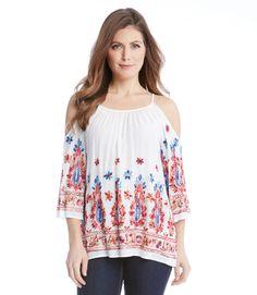 fefdb728243faf Karen Kane - Embroidered Cold Shoulder Top