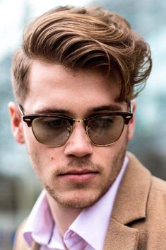 High and Low Fade Comb Over Light Brown Wavy Hair Side Part ❤️ Many barbers think that once a man opts for a comb over, all of his troubles will be over. Even though it may sound ridiculous, let's don't jump to conclusions. Self-respecting men know that a haircut plays a very important role in style. ❤️ See more: #lovehairstyles #hair #hairstyles #haircuts #menshaircuts #menshairstyles #combover #shorthaircuts