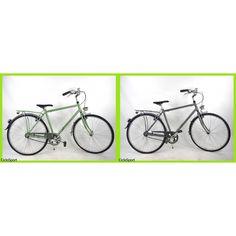 Bicicletta Frera City Bike Uomo 28 in alluminio - Colori: Verde - Grigio