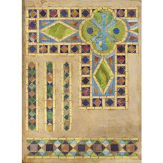 Louis Comfort Tiffany - Glass tesserae set in plaster c1910