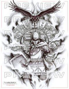 Tatus pa hoy Aztec Warrior Tattoo, Warrior Tattoos, Arte Tribal, Aztec Art, Aztec Tattoos Sleeve, Aztec Drawing, Mayan Tattoos, Azteca Tattoo, Warrior Drawing
