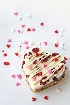 Cranberry White Chocolate Bars (homemade version of Starbucks Cranberry Bliss Bars)  These are so delicious!