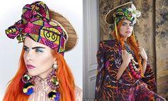 Singer Paloma Faith in African Print Headties