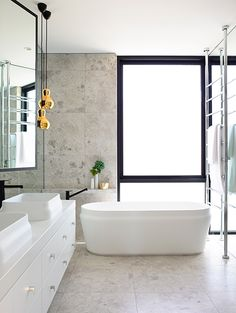 Bathroom Luxury in this master ensuite is sensory. the mim design group chose a pair of omvivo 'latis'. Townhouse Designs, Modern Bathroom, Contemporary Bathrooms, Bathroom Style, Beautiful Bathrooms, Popular Bathroom Designs, Contemporary Bathroom Designs, Bathroom Renovations, Contemporary Bathroom