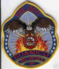 Wisconsin - Suamico Volunteer Fire Dept - PatchGallery.com Online Virtual Patch Collection By: 911Patches.com - Fire Departments EMS Ambulance Rescue Police Sheriffs Depts Law Enforcement and Public Safety Patches Emblems Logos