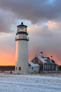 Cape Cod Winter Sunset by John Burk