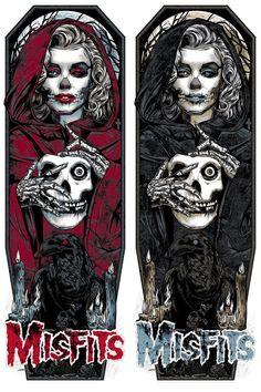 Rock Posters, Band Posters, Concert Posters, Danzig, Misfits Tattoo, Rhys Cooper, Misfits Band, Arte Punk, Heavy Metal Art