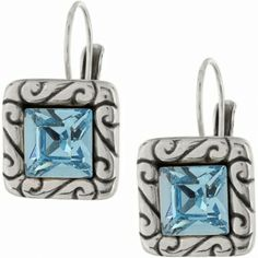 Brighton Aqua Regina Leverback Earrings available at Ear Abstracts Boutique (714)996-3505 We ship!