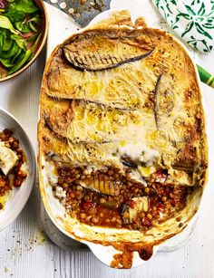 Sweet potato and aubergine moussaka. This pasta free Greek relative of lasagne skips the cheese making it suitable for vegans :)