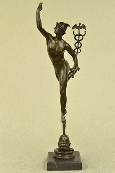 FRENCH GRAND TOUR BRONZE HERMES MERCURY MESSENGER OF THE GODS