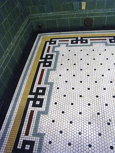 Station tile work Union Station tile workWork It Work It may refer to: Hex Tile, Penny Tile, Hexagon Tiles, Mosaic Tiles, Mosaic Bathroom, Tiling, Mosaic Floors, Floor Patterns, Mosaic Patterns