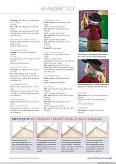 Simply Knitting Issue 128 2015 - 紫苏 - 紫苏的博客 Knitted Doll Patterns, Christmas Knitting Patterns, Christmas Embroidery, Knitted Dolls, Crochet Dolls, Knitting Patterns Free, Free Knitting, Knitting Toys, Crocheted Toys