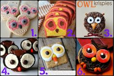 (DIYs and Recipes, too! Owl Food, Origami Owl Parties, Owl Clothes, Baby Shower Parties, Baby Showers, Harry Potter Food, Owl Crafts, Baby Owls, Cute Food