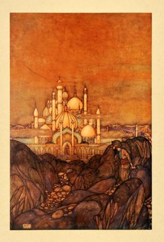Edmund Dulac, Arabian Nights, 1907, original color plate