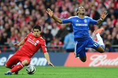 Luis Suarez Didier Drogba Chelsea Liverpool FA Cup