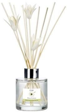 Achica White Flowers Silver Top Reed Diffuser 100ml On Style Co Uk